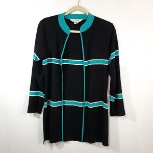 Exclusively Misook Cardigan Size XS Striped